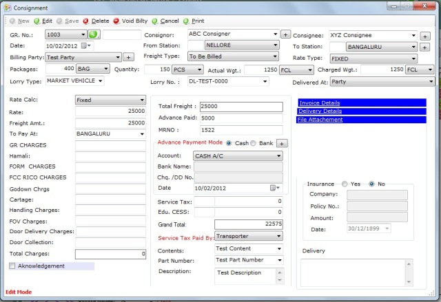 transport billing software in india free download